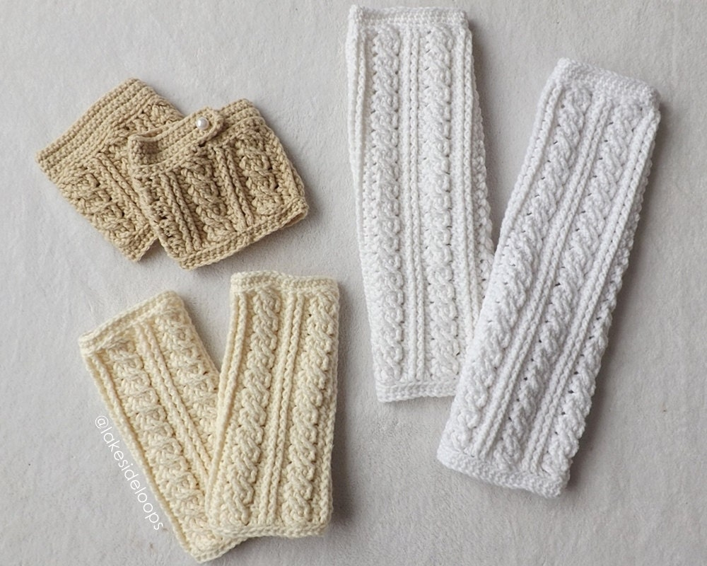 Crochet Pattern - Lennon Cable Leg Warmers and Boot Cuffs ...
