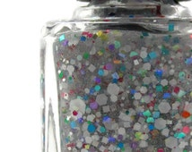 Drama Queen Nail Polish, Nail Enamel, Glitter Topper, Rainbow Glitter, Holographic Nail Polish, Cruelty Free, Five Free, Full Size, 15mL