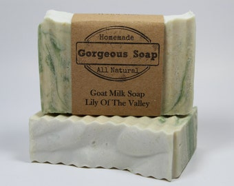 Lily of the Valley Goat Milk Soap - All Natural Soap, Handmade Soap, Homemade Soap, Handcrafted Soap