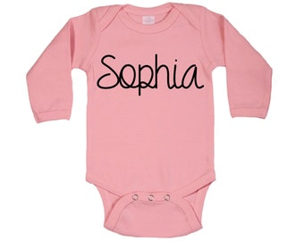 Personalized Name Iron On || Heat Transfer Name Decal, Name Iron on,  Onesie, Toddler, Burp Cloth, Etc.
