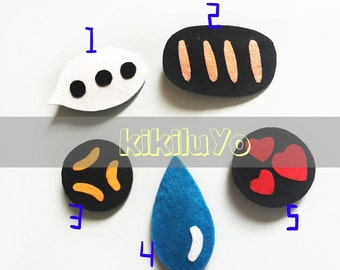Hanfmade Cute Animation cartoon facial expression hair clips Alligator clip custom any expression