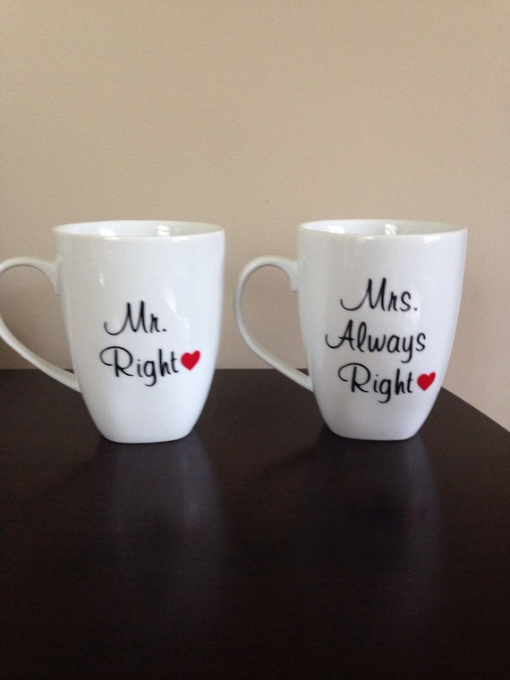 Mrs Always Right Collection Review: Items Similar To Coffee Mugs With Mr. Right And Mrs
