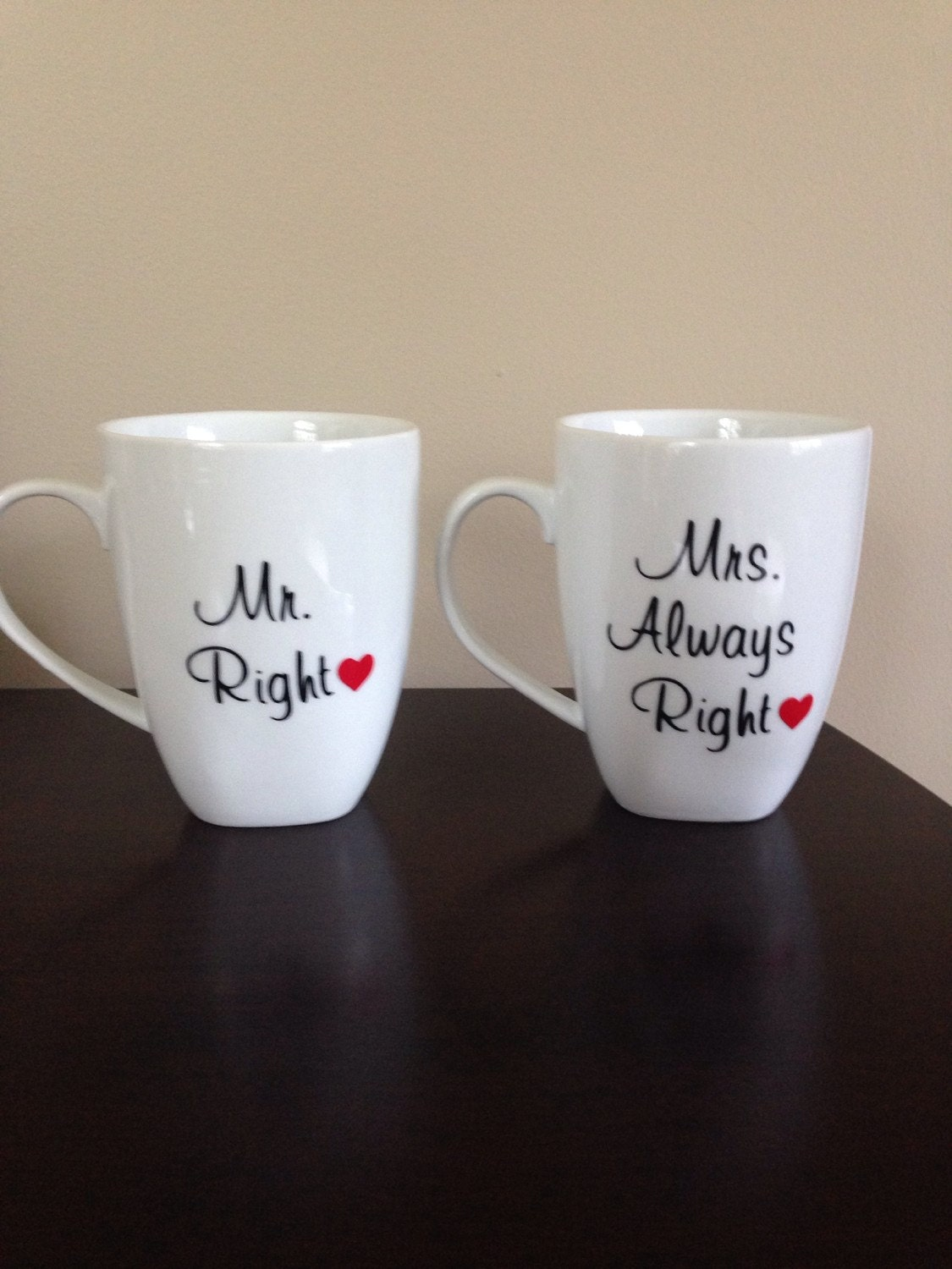 Mrs Always Right Collection Review: Coffee Mugs With Mr. Right And Mrs. Always Right With Hearts