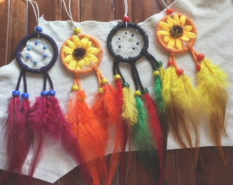 "MINI 2"" rear view mirror dream catcher"