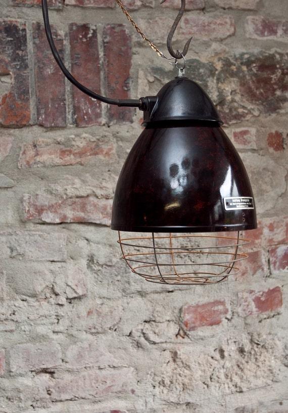 industrie lampe h ngelampe ddr bakelit. Black Bedroom Furniture Sets. Home Design Ideas