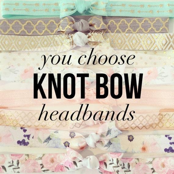 YOU CHOOSE | Knot Bow Headbands | Elastic Knot Bow Headbands for Baby Toddlers Girls, Newborn Headbands, Infant Headband, Boho Tribal Floral