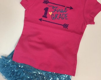 Back to school Tee 1st or 2nd grade