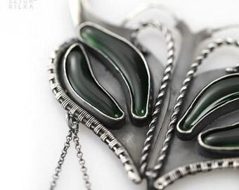 Mantis - silver pendant - necklace