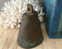 Small cowbell | brass cowbell | small cow bell | small brass bell | vintage brass bell | Indian brass bell | rustic bell