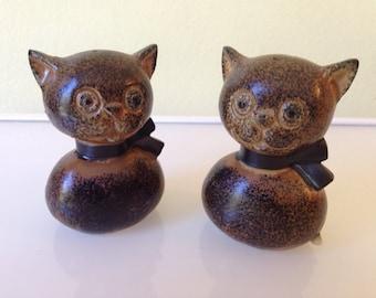 Vintage MCM Cat Salt and Pepper Shakers Japan 1950s