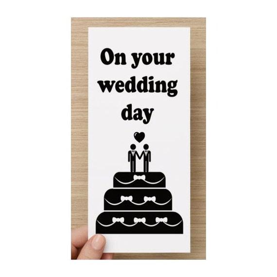 Auguri Matrimonio Gay : Gay male il tuo giorno di nozze cartolina
