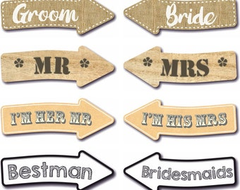 8 Wedding Photo Booth Arrow Signs Photo Booth Prop 013-760 Wedding Photography Prop