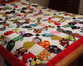 "Homemade Quilt ""I SPY"" Multicolor Twin/Full size for boy or girl"