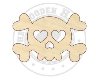 Skull - Skull Decor - Skull Crossbones - Wood Craft Shapes - 170389