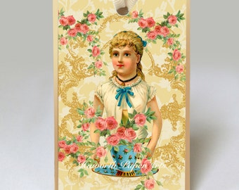 Victorian Girl Gift Tag