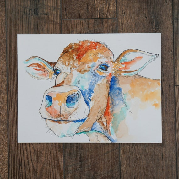 Mya the Cow- Giclee Print