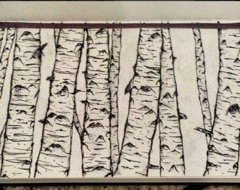 Snowy aspens drawing