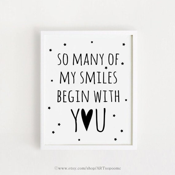 Old Baby Picture Quotes: Printable So Many Of My Smiles Begin With You Baby Quotes