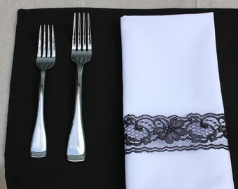 Black Placemat | Black Placemats for Weddings, Hotels, Catering Events and Restaurants
