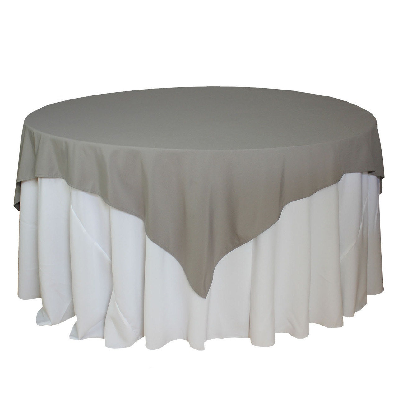 72 x 72 inches gray table overlays square gray tablecloths for Table linens