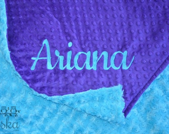 Personalized Baby Blanket, Minky Blanket, Personalized Name Blanket, Baby Blanket, Choose Your Colors, Choose Your Size