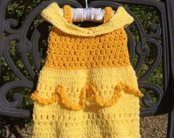 Disney inspired Belle crochet dress