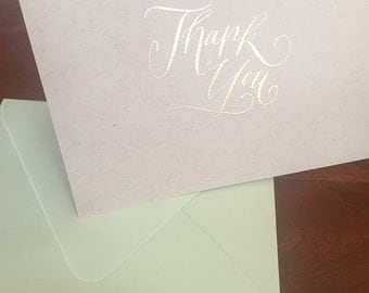 Rustic Wedding Thank You Cards - Thank You Cards Set - Thank You Notes - Correspondence Cards - Stationary - Wedding Stationery