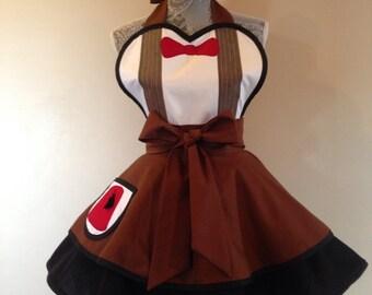 11th Doctor Who - cosplay apron - costume - retro apron - womens apron