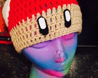 Red Mario Mushroom,Toad Hat, Super Mario Mushroom Hat