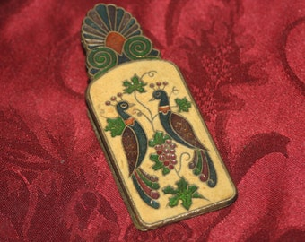 Vintage Brass Greece Clip, Collectible Brass