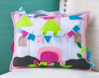 Tooth Fairy Pillow Girl, Tooth Fairy Pillow House, Princess Pillow, Princess Tooth Fairy Pillow, Pillow House, Castle Pillow