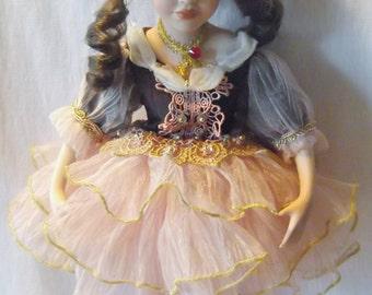 Vintage Ballerina Porcelain Doll