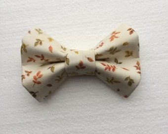 Tossed Gilded Leaves Autumn Bow Tie