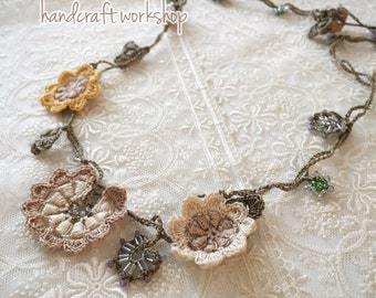 Crochet pattern (PDF file) Motif Necklace