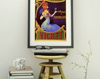 Art Deco Poster Absinthe  French  poster French Style Wall Hangings French Old Style Wall Decor