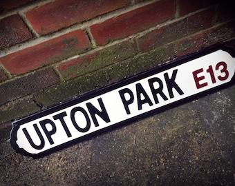 West Ham Upton Park Football Ground Street Sign