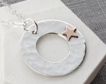 Anniversary gift|Gold Star Pendant