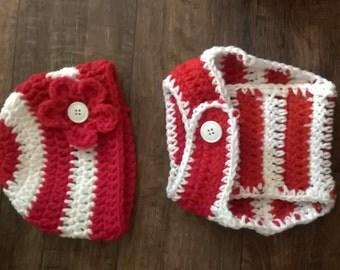 Crochet diaper cover set 0-3 months
