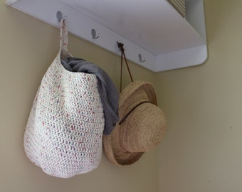 PATTERN - Crochet hanging basket pattern - Crochet storage basket pattern - Easy crochet pattern - Crochet supplies - Crochet patterns