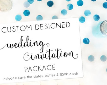 Custom Designed Wedding Invitation Package