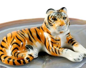 Tiger - handpainted porcelain figurine  - 4567