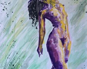 Dancing Watercolor Fairy