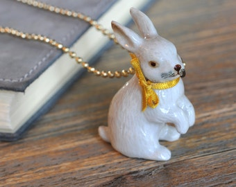 Undercover White Rabbit Charm Necklace