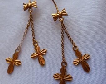 22k Gold Dangle Earrings | Solid Gold Jewelry | Solid Gold Earrings | Gold Earrings | Gold Jewelry | Solid 22k Gold Earrings | Solid 22k