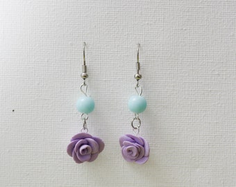 """Rose"" pastel purple earring"