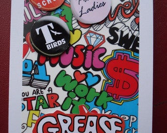 Handmade Greeting Card ~ ϟ GREASE ϟ The Movie ~ Any Occasion ~