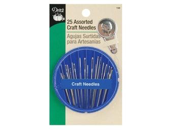 25 Sharps Hand Needles, Assorted Craft Needles, Dritz