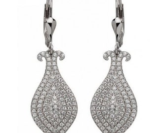 Sterling Silver earrings with CZ Stones