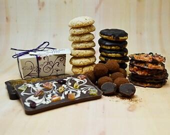 Luxury Gift basket with chocolate truffles