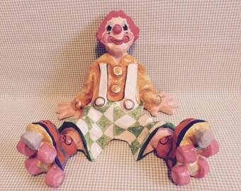 Vintage Paper-mâché Clown-Alvarez Mexico